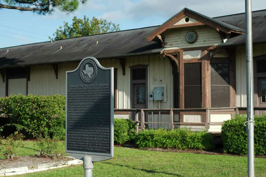 A fundraising effort is underway for a project to convert the Gulf, Colorado and Santa Fe Railroad Depot in Pearland to a museum and event space. Photo: Kirk Sides / Houston Chronicle / © 2018 Kirk Sides / Houston Chronicle