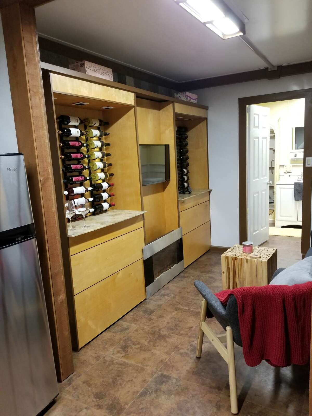 """The """"Winenado"""" bunker serves as both a nuclear fallout shelter and a wine cellar."""
