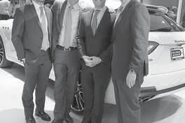 The Helfman dealerships represent three generations of close ties between the family and the communities they serve. At the recent grand opening of its second Maserati, Alfa Romeo and Fiat store were, left to right, Blake Helfman, manager, Steven Wolf, vice president, Jason Feldman, manager, and Jeff Smith, general manager.