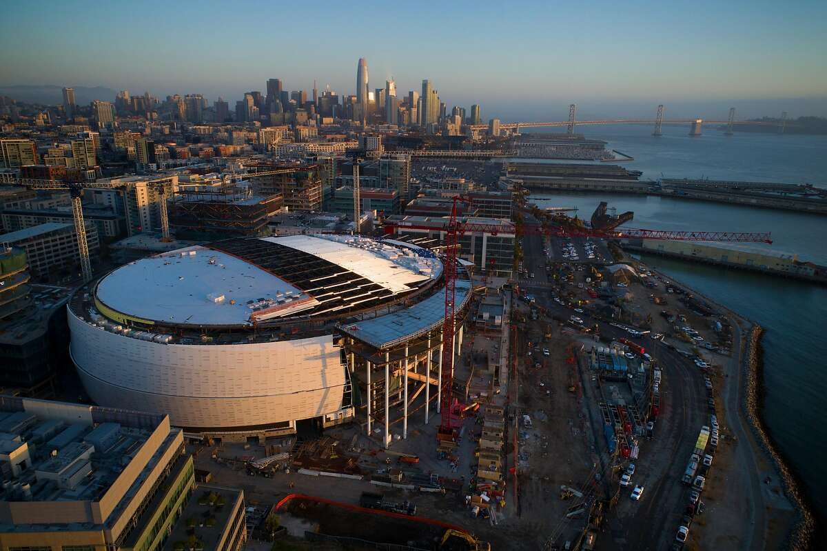 Chase Center, the new home of the Golden State Warriors, under construction in San Francisco, Calif., on Wednesday, September 19, 2018.
