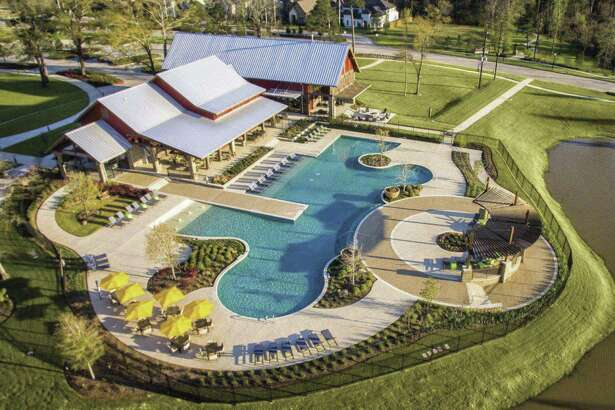 NorthGrove, the community developed by Toll Brothers, is located off FM 2978 in southern Montgomery County. Shown is the 7.5-acre recreation center called The Retreat.