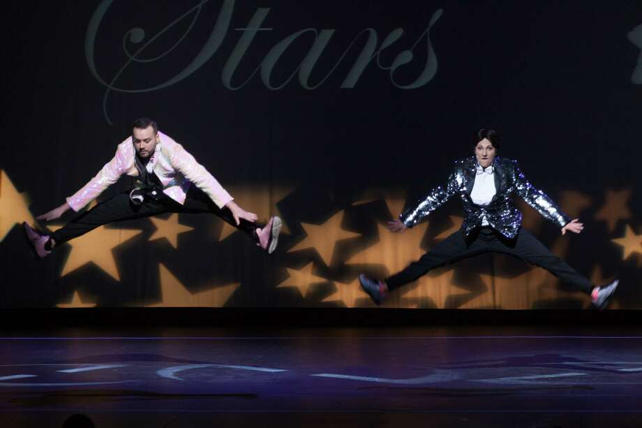 Erik Zeiss, the bow-tied bartender from Sign of the Whale restaurant, tended to the crowd's needs as he and his professional dance partner, Lauren Nicole Sherwood from Diva Star Productions, received the Judges' Choice Award, male division, at Curtain Call's Dancing with the Stars in 2018. This year's show takes place May 18 at Stamford's Palace Theatre. Photo: Debra Failla / Contributed Photo / Stamford Advocate Contributed