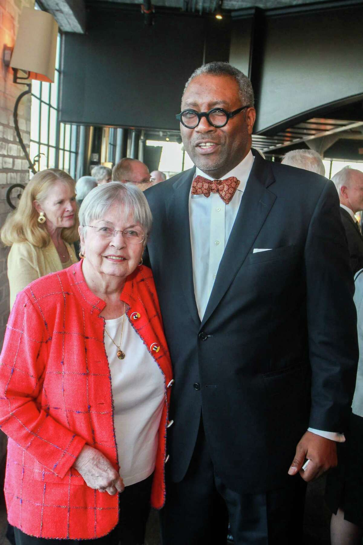 """Kathrine McGovern and Michael Ray Charles at the University of Houston's inaugural Celebration for """"A College of the Arts for the City of the Arts."""""""