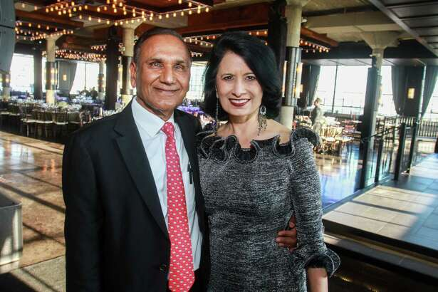 "EMBARGOED FOR SOCIETY REPORTER UNTIL MARCH 23 Suresh and Renu Khator at the University of Houston's inaugural Celebration for ""A College of the Arts for the City of the Arts."""