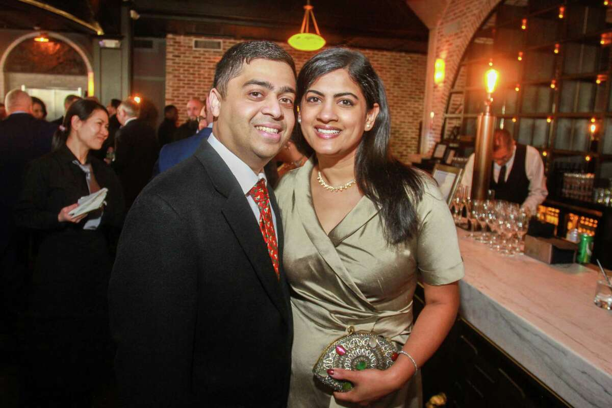 """Vivek and Ishwaria Subbiah at the University of Houston's inaugural Celebration for """"A College of the Arts for the City of the Arts."""""""