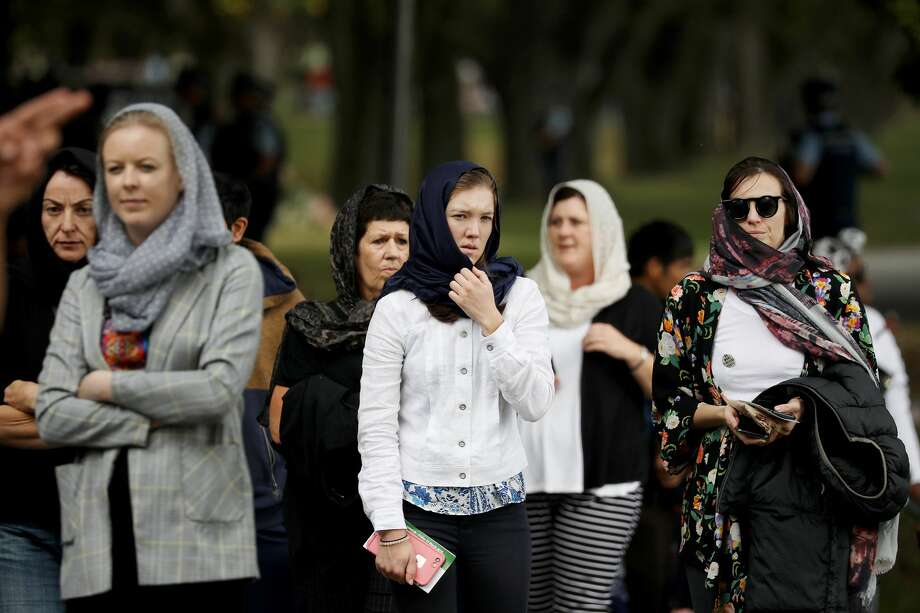 People leave after attending the Friday Islamic prayers in Hagley Park outside the Masjid Al Noor mosque in Christchurch, New Zealand on March 22, 2019. Vigils took place around the country to pay respect to the victims of Christchurch's terror attack, a week after the horrific shooting killed 50 people in two mosques. A 28-year-old Australian born man, Brenton Tarrant has been charged with murder following the attacks. (Photo by Sanka Vidanagama/NurPhoto via Getty Images) Photo: NurPhoto/NurPhoto Via Getty Images