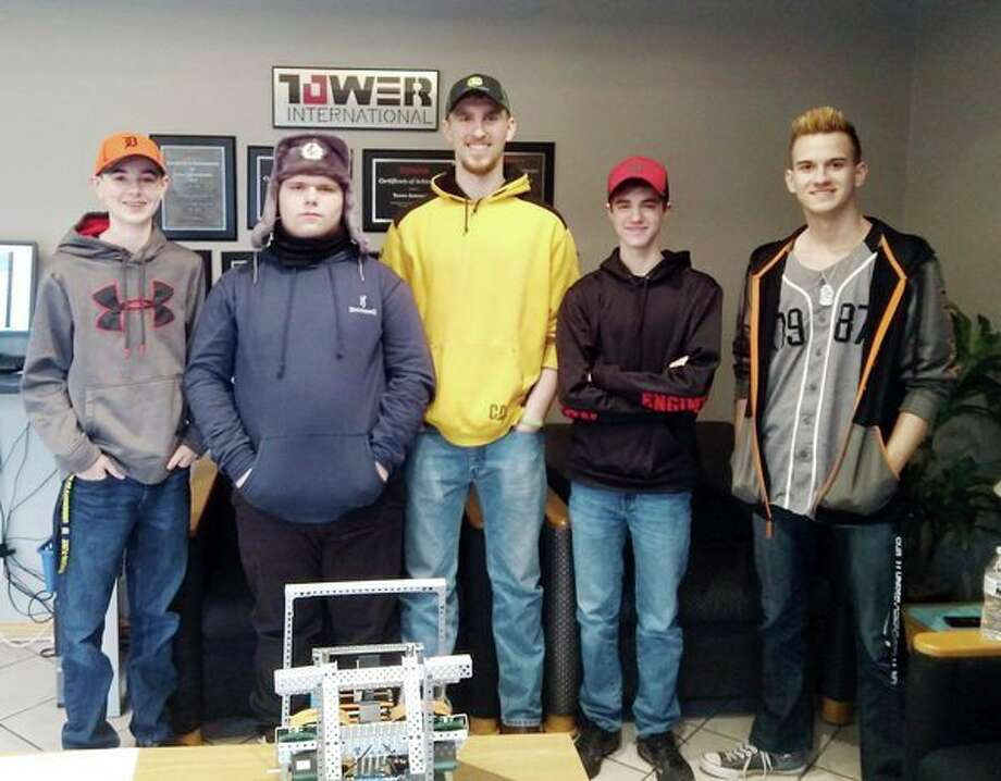 The Owendale-Gagetown High School Robotics team recently went on a tour of Tower Automotive in Elkton. Tower Automotive is a sponsor of the robotics team every year, therefore, the students also did a presentation of their robot to the team of workers. (Submitted Photo)