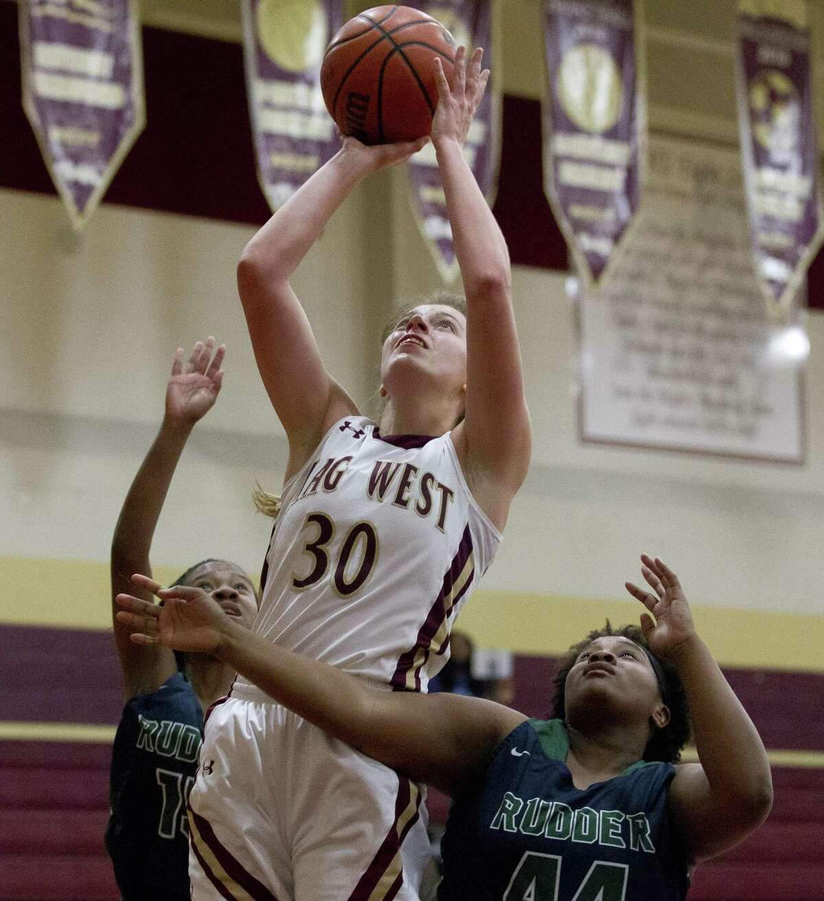 Magnolia West forward Hannah Eggleston is The Courier's Offensive MVP.