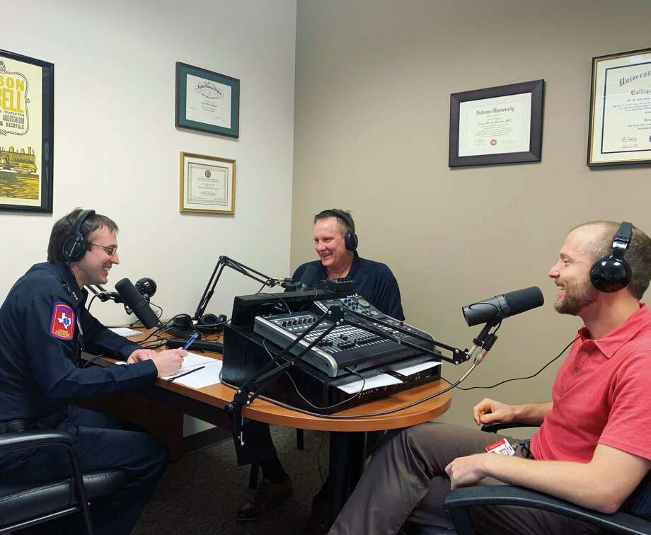 As the brainchild of MCHD's Assistant Medical Director for EMS Services, Casey Patrick, the The MCHD Paramedic Podcast tackles health-care topics in a bite-size package to aid in the continuing education of not only the hospital district's 250 paramedics, but — with more than 56,000 listens to date — paramedics beyond. Photo: Courtesy Of The Montgomery County Hospital District