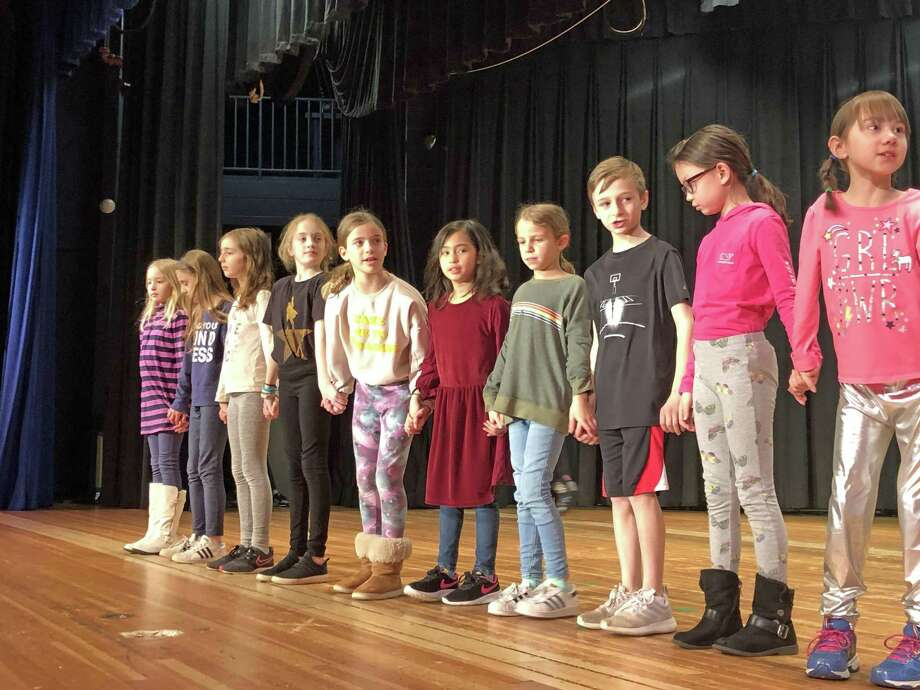 "Students from Saugatuck Elementary School are rehearsing for their production of ""Willy Wonka."" This is the first theatrical production from the newly formed Saugatuck Theater Club. The performances will take place on March 29 at 7 p.m. and March 30 at 2 p.m. Photo: Stacie Waldman / Contributed Photo"