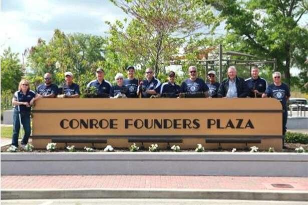 The Conroe Kiwanis ClubadoptedFounders Plaza Park at 205 Metcalf Streetas part oftheCity of Conroe's Adopt-a-Parkcommunity outreach program.