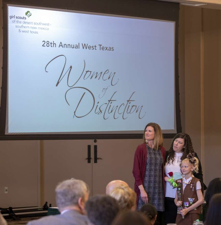 Christine Foreman is honored at the 28th West Texas Women of Distinction hosted by the Girl Scouts of the Desert Southwest on Tuesday, March 19, 2019 at Odessa Country Club. Jacy Lewis/191 News Photo: Jacy Lewis/191 News