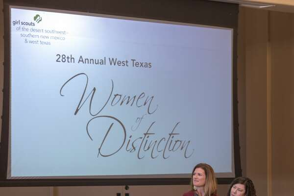 Christine Foreman is honored at the 28th West Texas Women of Distinction hosted by the Girl Scouts of the Desert Southwest on Tuesday, March 19, 2019 at Odessa Country Club. Jacy Lewis/191 News