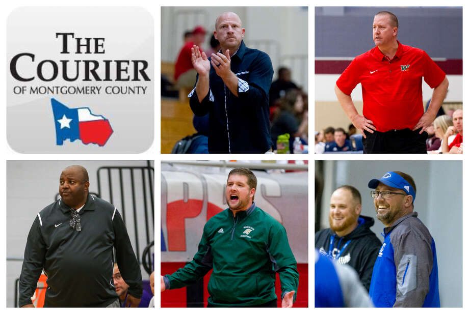 Lake Creek's Shannon Spencer, The Woodlands' Dale Reed, Montgomery's Don Johnson, TWCA's Tanner Field and Covenant's Jeff Evans are The Courier's nominees for Coach of the Year. Photo: Staff Photos