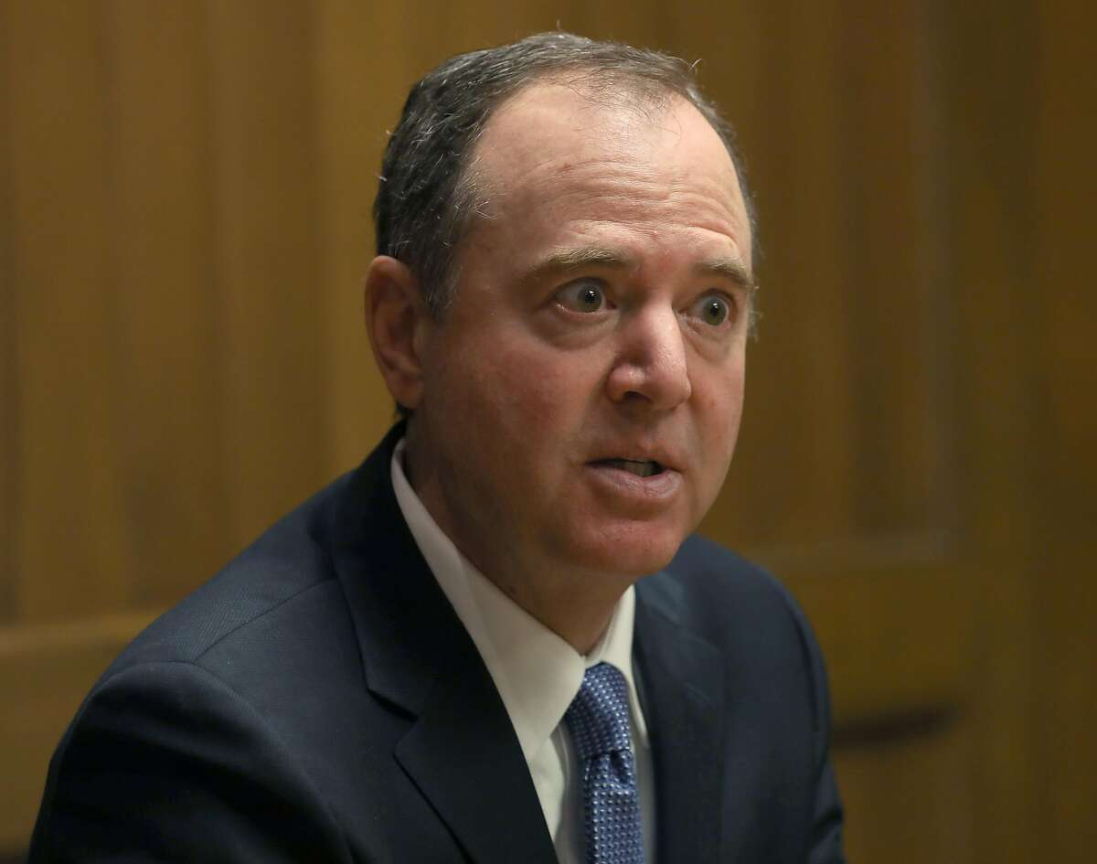 Rep. Adam Schiff, D-Burbank, talks to The Chronicle's editorial board Friday.