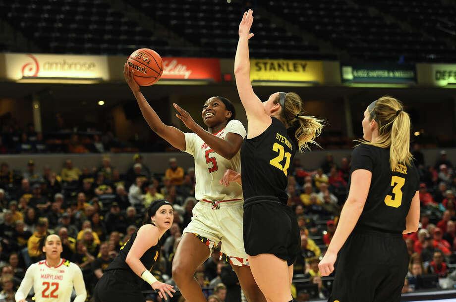 Kaila Charles scored 36 points against Iowa in the Big Ten championship. Photo: Washington Post Photo By Katherine Frey / The Washington Post