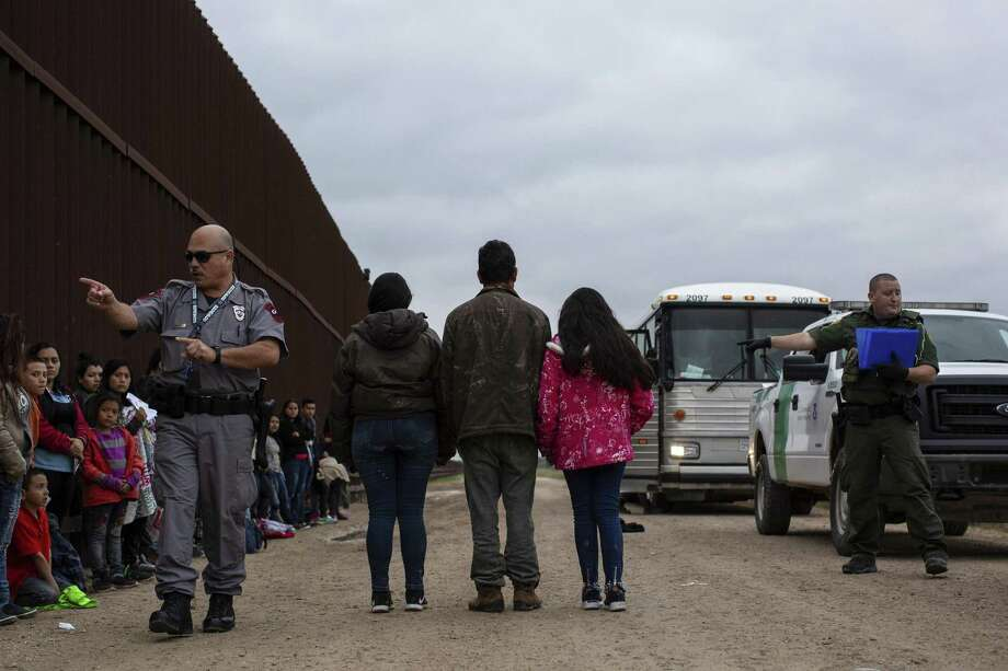 Migrants from Central America turn themselves in to Border Patrol agents in Penitas. More than 76,000 migrants crossed the border in February. A reader asks how that could not be considered a crisis. Photo: Tamir Kalifa /New York Times / NYTNS