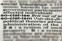 """The word socialism, from the 11th edition of Merriam-Webster's Collegiate Dictionary, Dec. 5, 2012. Thanks to the election, socialism and capitalism are forever wed as Merriam-Webster's most looked-up words of 2012. A reader says """"socialism"""" will be the most popular word between now and the 2020 election."""