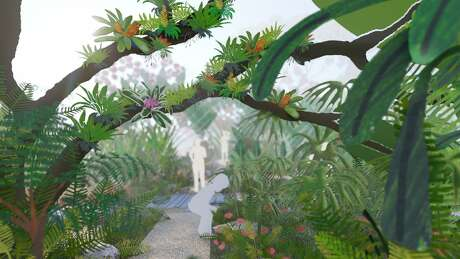 Houston Botanic Gardens' central exhibition area, the Global Collection Garden, will feature a series of outdoor rooms including an area of tropical plants.