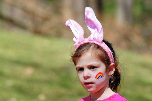 Harper Hamm, 5, of New York City, wore bunny ears to the annual Easter Egg Hunt at the St. Francis Episcopal Church in Stamford, Conn., last year. The Elks Lodge in Stamford will host an Easter egg hunt on Friday, April 19.