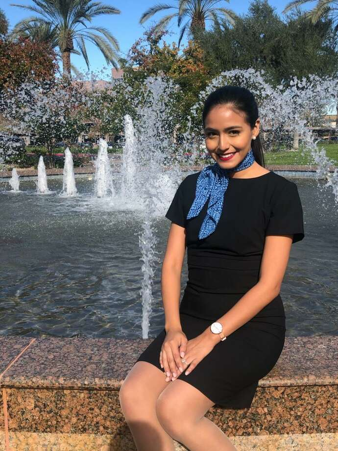 Selene Saavedra, 28, was detained at Houston's George Bush Intercontinental Airport in February 2019 after flying to Mexico with Mesa Airlines. She has a permit for immigrants who came to the United States illegally as children. Photo: CourtesyDavid Watkins