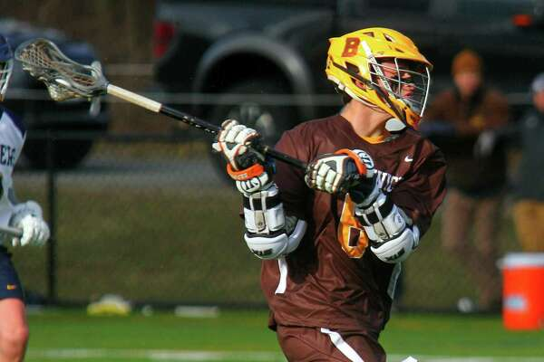 Brunswick's Koby Ginder winds up to score against William Penn during the Bruins' win on Friday in Greenwich.
