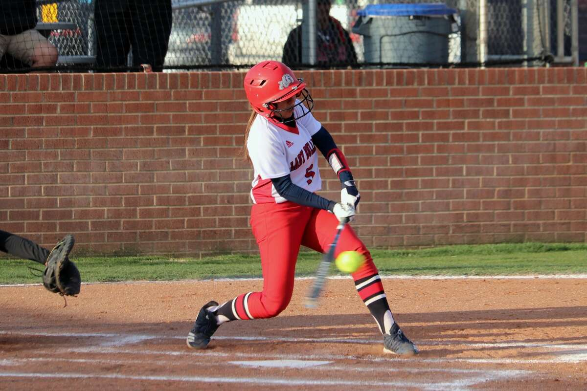 The Plainview Lady Bulldogs softball team beat out bad weather and were able to earn a 7-2 win over the Lubbock High Lady Westerners during District 3-5A action on Friday in Plainview.