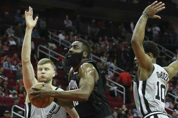 James Harden had his shooting eye finely tuned Friday, matching his career high with 61 points.