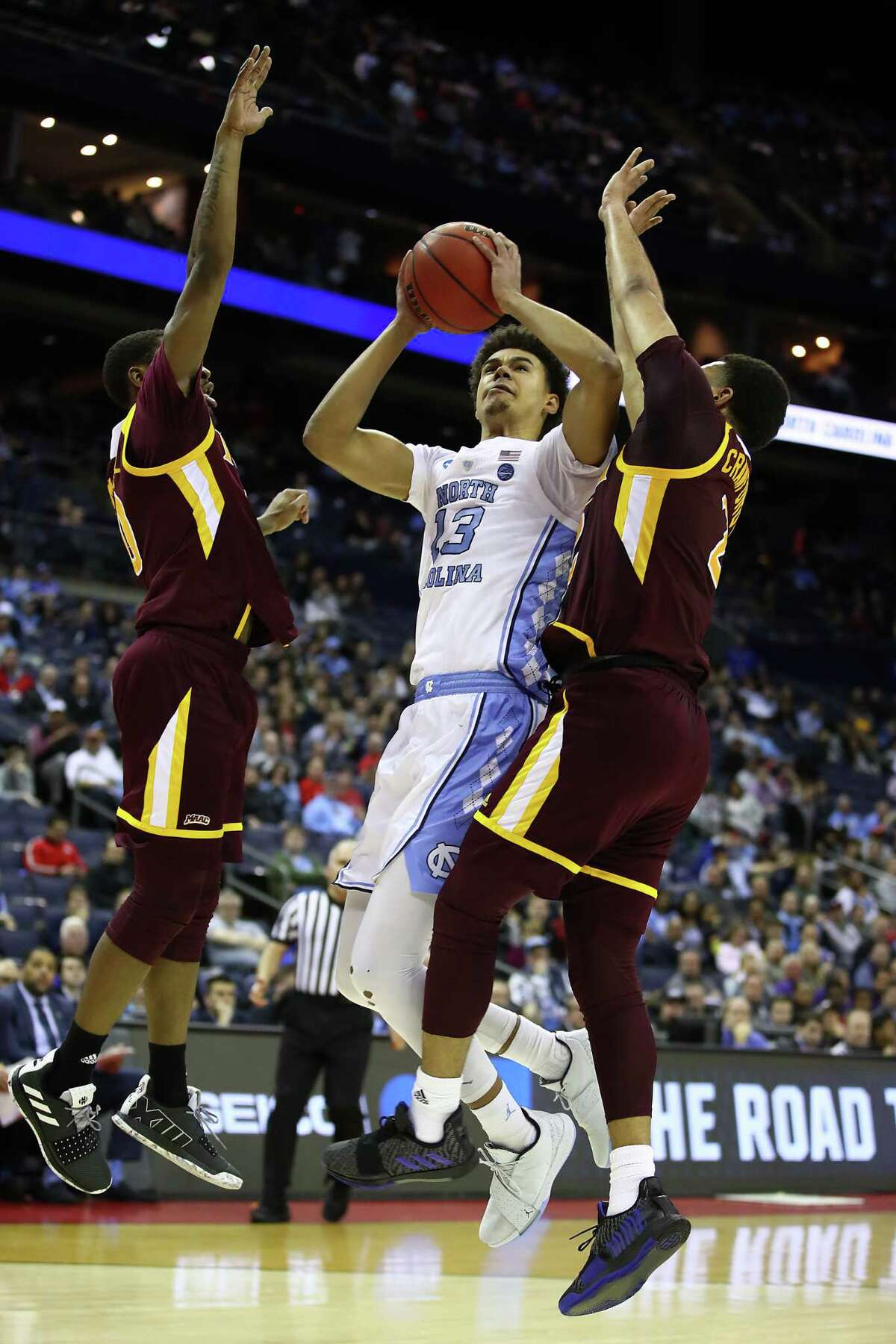 Cameron Johnson College: North Carolina Ht: 6-9 Wt: 210 Pos: SG/SFAge: 23 As far as pure shooters are concerned, few players in the draft field can match North Carolina forward Cameron Johnson. Read more about him here.