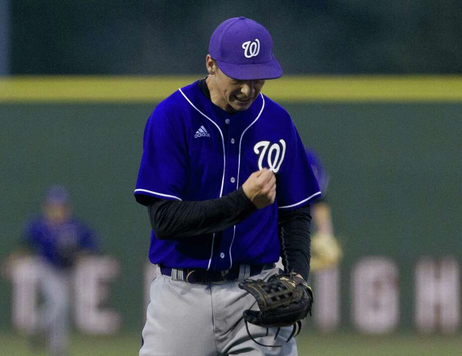 In this file photo, Willis starting pitcher Daniel Shafer (19) reacts after gettduring the first inning of a District 20-5A high school baseball game at Porter High School, Tuesday, March 12, 2019, in Porter. Photo: Jason Fochtman, Houston Chronicle / Staff Photographer / © 2019 Houston Chronicle