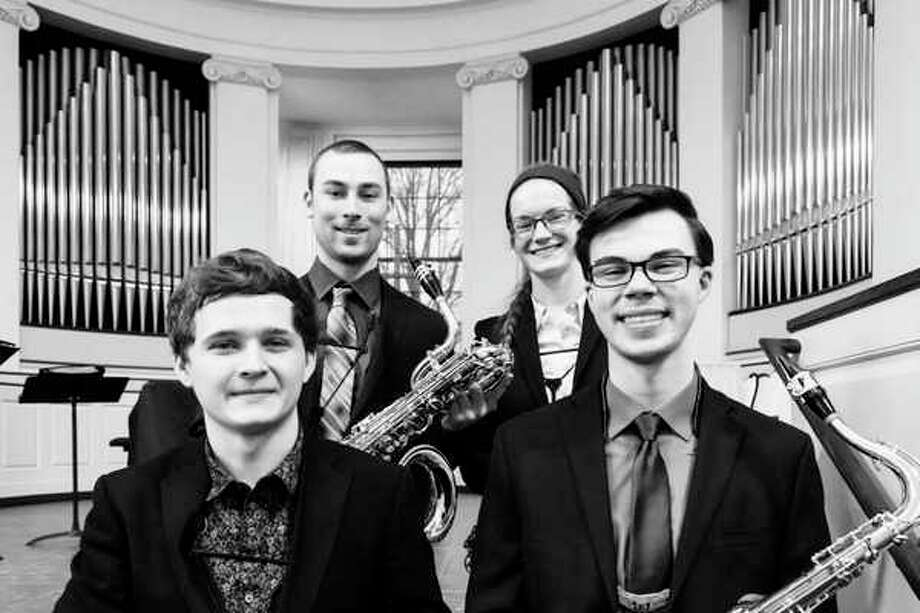 The Kairos saxophone quartet from Central Michigan University. (photo provided)