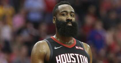 c345d0bc79d Houston Rockets guard James Harden (13) during the fourth quarter of the NBA  game against the San Antonio Spurs at Toyota Center on Friday