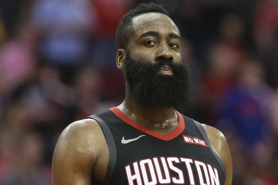 Houston Rockets guard James Harden (13) during the fourth quarter of the NBA game against the San Antonio Spurs at Toyota Center on Friday, March 22, 2019, in Houston. The Houston Rockets defeated the San Antonio Spurs 111-105. Harden scored 61 points in this game.
