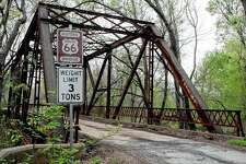 A rusted bridge sits in March 2007 along old Route 66 in Chelsea, Oklahoma. An endangered federal program that's helped preserve the historic Route 66 Highway for two decades is issuing its last call for grants in April.
