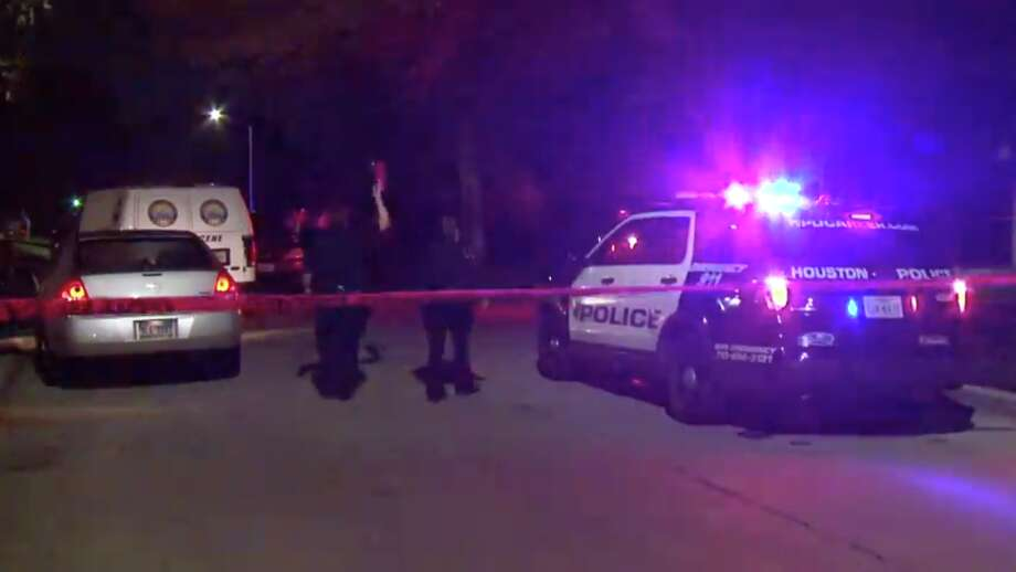 Police are investigating a south Houston homicide after they found a man lying dead in the street Saturday morning with an unknown number of gunshot wounds. Photo: Metro Video