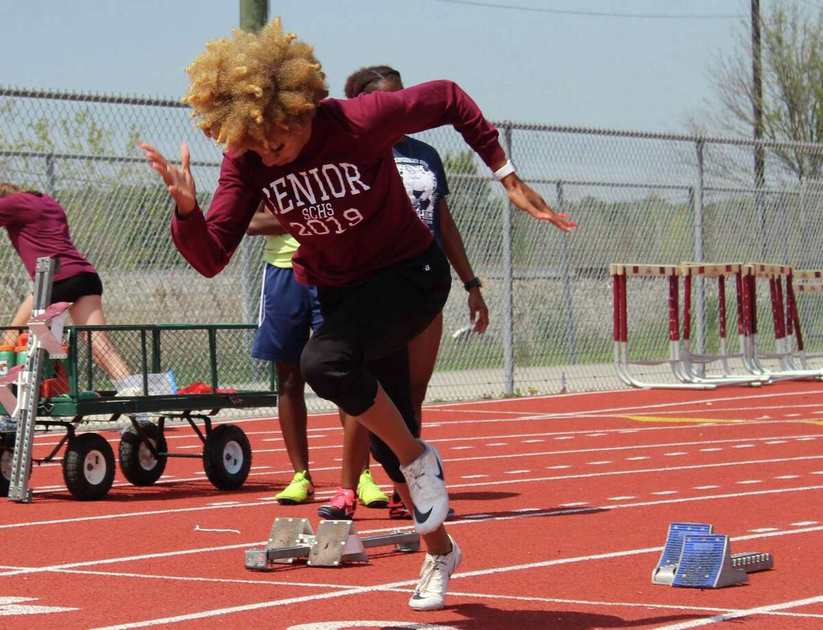 Summer Creek sprinter Tianna Randle prepares to run at practice. The senior has signed with UNLV for track and field.