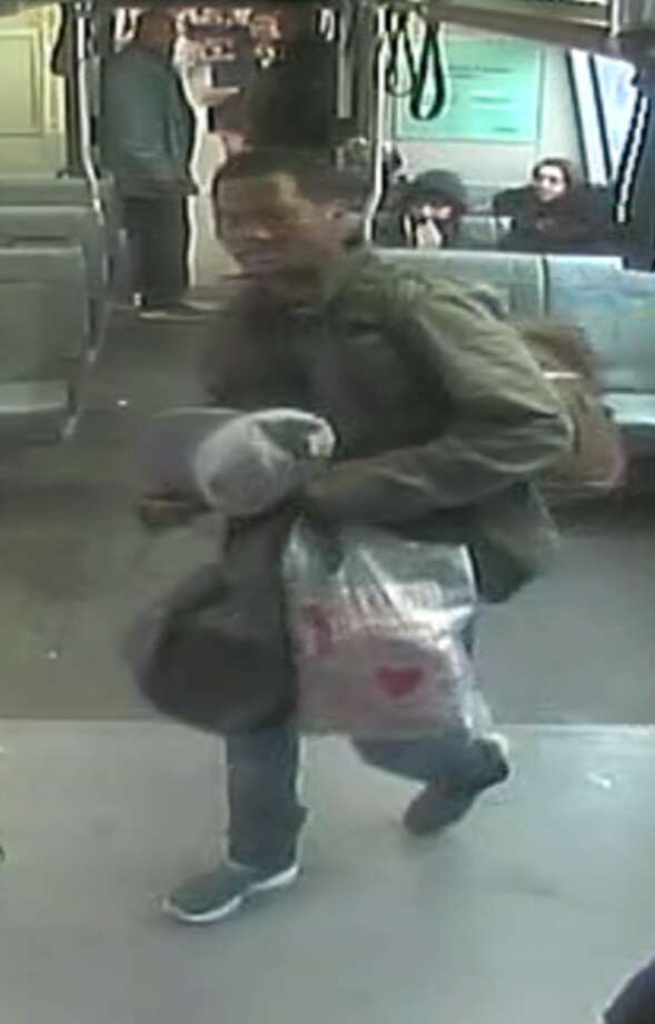 BART police release images of a man they say is responsible for a stabbing at the Fruitvale station Friday afternoon. Photo: BART