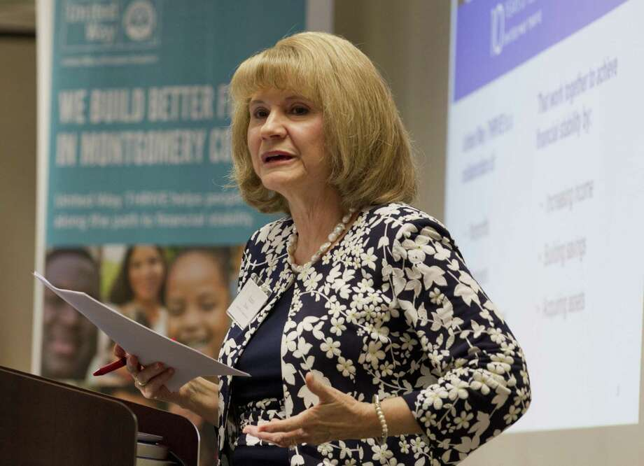 Anna M. Babin, President and CEO of United Way of Greater Houston, speaks as the United Way of Montgomery County hosts an open house for the organization's new THRIVE Center, Friday, March 22, 2019, in The Woodlands. Photo: Jason Fochtman, Houston Chronicle / Staff Photographer / © 2019 Houston Chronicle