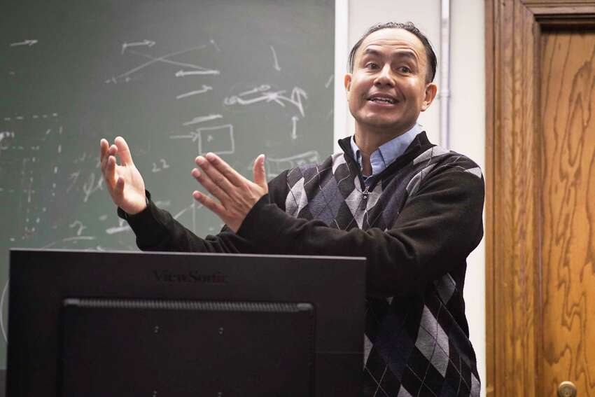 Carlos Varela, an associate professor of computer science at RPI, talks about his work during an interview at RPI on Monday, March 18, 2019, in Troy, N.Y. (Paul Buckowski/Times Union)