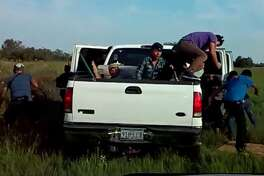 Traffic stop on Ford F-250 ends in bailout