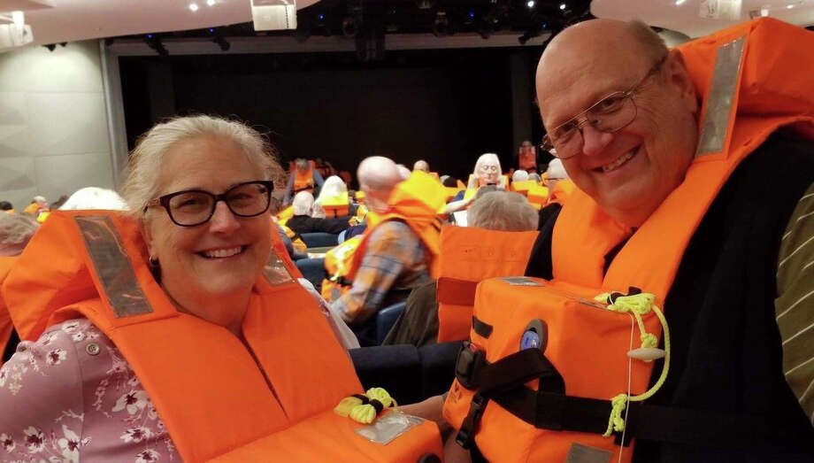 Midlanders Valerie and Larry Prucka are among passengers who were evacuated Saturday from the cruise ship Viking Sky. Photo: Courtesy Photo
