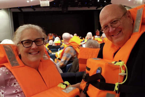Midlanders Valerie and Larry Prucka are among passengers who were evacuated Saturday from the cruise ship Viking Sky.