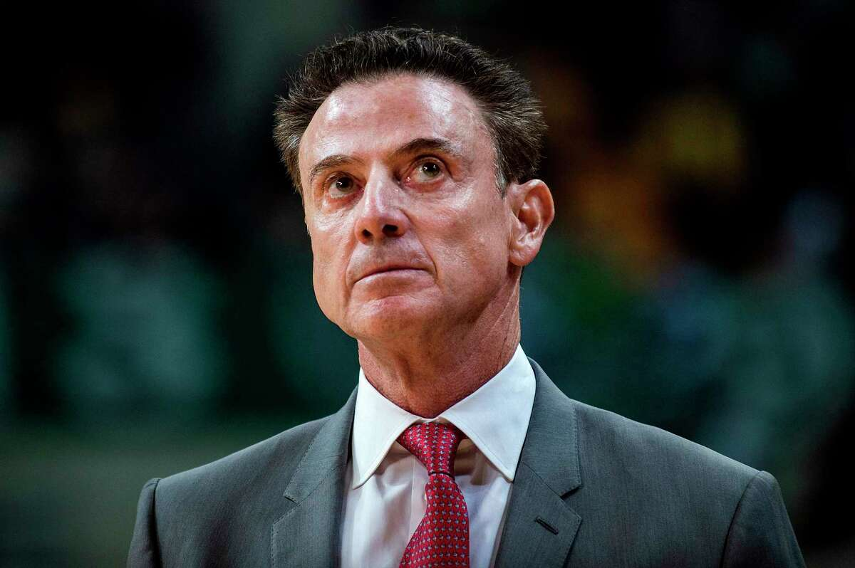 US coach of Panathinaikos Rick Pitino (C) looks on during a Euroleague basketball match between Panathinaikos and Anadolu Efes at The OAKA Stadium in Athens, on February 1, 2019. - One of the biggest coaching names in US college basketball, Pitino has not lost a game in the Greek league after being hired just after Christmas 2018. (Photo by ANGELOS TZORTZINIS / AFP)ANGELOS TZORTZINIS/AFP/Getty Images