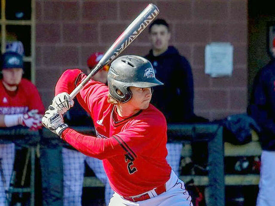 SIUE's Brock Weimer had three hits and two RBIs in the Cougars' 3-1 victory over Belmont Saturday in Nashville, Tenn. Photo: SIUE Athletics