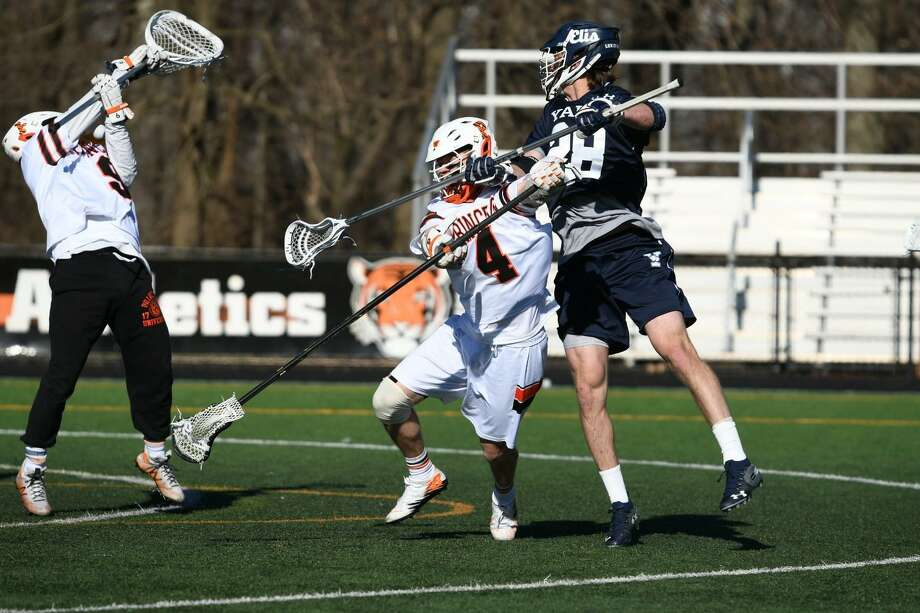 The Yale men's lacrosse team beat Princeton on Saturday for its fifth straight win. Photo: George Duran / Yale Athletics