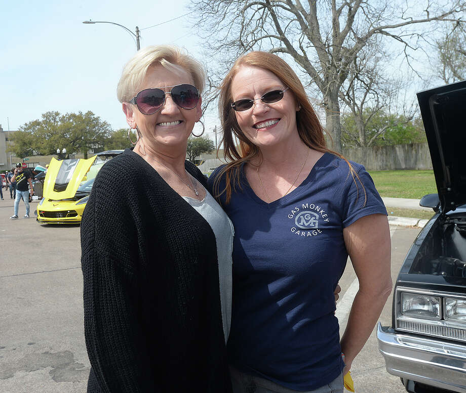 Vicki Guidry and Christine Reeves were at the Spindletop Classic & Rod Car Show Saturday on Boston Avenue in Nederland. Nearly 200 classic vehicles lined the street, offering car enthusiasts a variety of models from throughout the years. Photo taken Saturday, March 23, 2019 Kim Brent/The Enterprise Photo: Kim Brent/The Enterprise