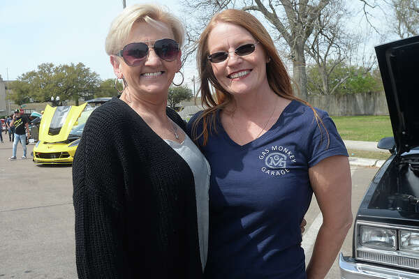Vicki Guidry and Christine Reeves were at the Spindletop Classic & Rod Car Show Saturday on Boston Avenue in Nederland. Nearly 200 classic vehicles lined the street, offering car enthusiasts a variety of models from throughout the years. Photo taken Saturday, March 23, 2019 Kim Brent/The Enterprise
