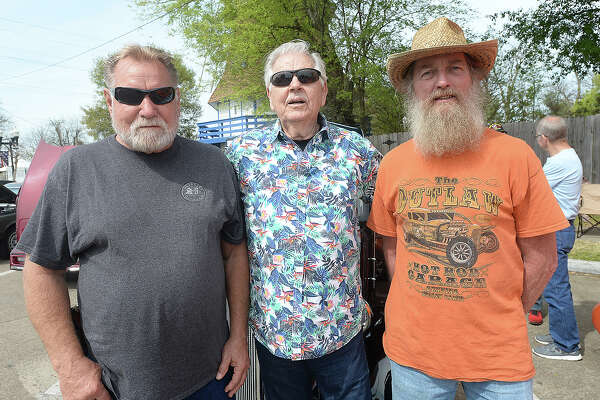 Todd Laurents, Bill Boudreaux and David Barnes were at the Spindletop Classic & Rod Car Show Saturday on Boston Avenue in Nederland. Nearly 200 classic vehicles lined the street, offering car enthusiasts a variety of models from throughout the years. Photo taken Saturday, March 23, 2019 Kim Brent/The Enterprise