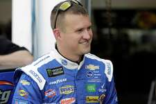 FILE - This Feb. 15, 2019 file photo shows Ryan Preece during a Daytona 500 auto race practice at Daytona International Speedway in Daytona Beach, Fla. Preece is a rookie struggling to find his rhythm at NASCAR's top level. A breakthrough could come at Martinsville Speedway, the first short track on the schedule and a layout that suits Preece's style. (AP Photo/Chris O'Meara)