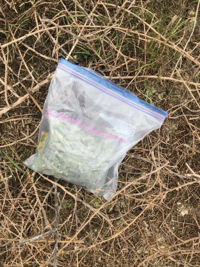 Shown is the bag containing 5.7 ounces of marijuana that was seized by sheriff's deputies. Photo: Courtesy